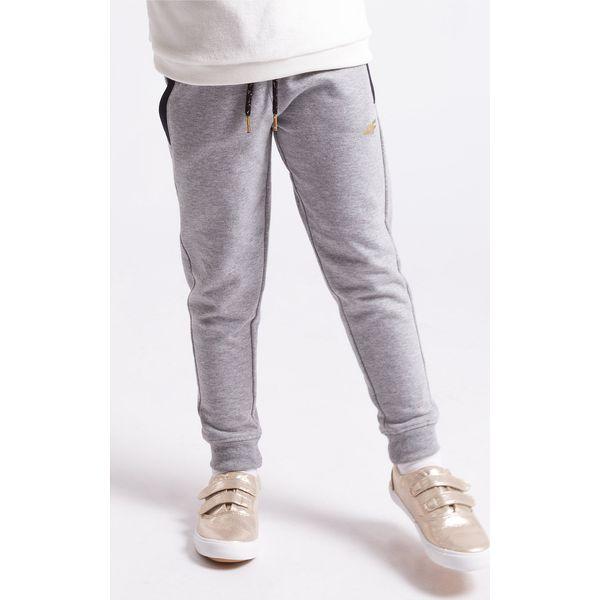 884c0cff1 Spodnie dresowe dla małych dziewczynek JSPDD104z - szary melanż - 4F ...