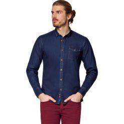Koszula Jeansowa Granatowa Richmond. Brązowe koszule męskie LANCERTO, z bawełny, z kontrastowym kołnierzykiem. W wyprzedaży za 199.90 zł.