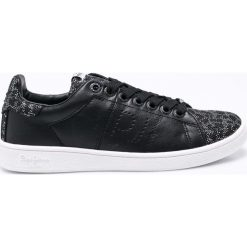 Pepe Jeans - Buty Brompton. Czarne obuwie sportowe damskie Pepe Jeans, z gumy. W wyprzedaży za 179.90 zł.