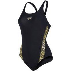 Speedo Strój Kąpielowy Monogram Muscleback. Czarne kostiumy jednoczęściowe damskie Speedo. Za 129.00 zł.