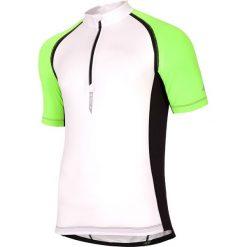Koszulka rowerowa męska RKM002 - biały. Białe koszulki sportowe męskie 4f, z elastanu. W wyprzedaży za 129.99 zł.
