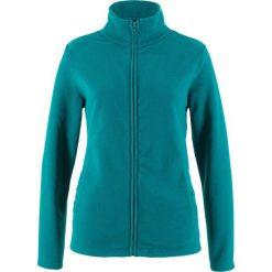 Bluza rozpinana z polaru z wpuszczanymi kieszeniami bonprix kobaltowo-turkusowy. Bluzy damskie marki KALENJI. Za 32.99 zł.
