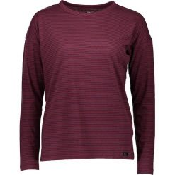Koszulka w kolorze brązowoczerwono-granatowym. Brązowe bluzki damskie Lee Jeans, w paski, z okrągłym kołnierzem, z długim rękawem. W wyprzedaży za 87.95 zł.
