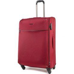 Średnia Materiałowa Walizka PUCCINI - EM 50380 B 3 Red. Czerwone walizki damskie Puccini, z materiału. W wyprzedaży za 319.00 zł.