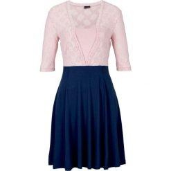 Sukienka koronkowa bonprix ciemnoniebieski. Niebieskie sukienki damskie bonprix, w koronkowe wzory, z koronki, eleganckie. Za 69.99 zł.