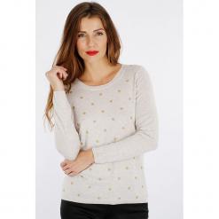 """Sweter """"Poibri"""" w kolorze szarobrązowym. Brązowe swetry damskie Scottage, z kaszmiru, z okrągłym kołnierzem. W wyprzedaży za 99.95 zł."""