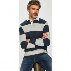 Tommy Jeans - Longsleeve. Szare bluzki z długim rękawem męskie Tommy Jeans, z bawełny, polo. Za 399.90 zł.