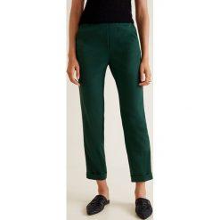 Mango - Spodnie Soul. Szare spodnie materiałowe damskie Mango, z elastanu. Za 119.90 zł.