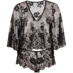 Koszulka z długim rękawem + figi panty (2 części) bonprix czarny. Figi damskie marki KALENJI. Za 74.99 zł.