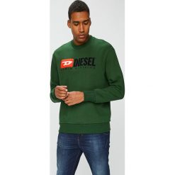 Diesel - Bluza. Szare bluzy męskie Diesel, z aplikacjami, z bawełny. W wyprzedaży za 499.90 zł.