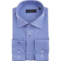 Koszula Glafira. Niebieskie koszule męskie LANCERTO, na lato, z dzianiny. W wyprzedaży za 149.90 zł.