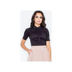 Bluzka M008 Czarny. Czarne bluzki damskie Figl, z bawełny, z krótkim rękawem. Za 73.00 zł.