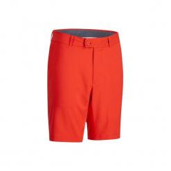 Spodenki do golfa bermudy 900 męskie. Czerwone szorty męskie INESIS, z materiału. W wyprzedaży za 49.99 zł.