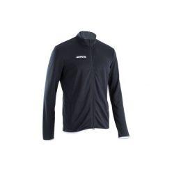 Bluza do piłki nożnej T100. Czarne bluzy męskie KIPSTA, z materiału. Za 59.99 zł.