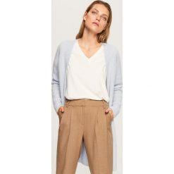Sweter z domieszką wełny i moheru - Niebieski. Swetry damskie marki bonprix. W wyprzedaży za 99.99 zł.