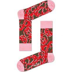 Happy Socks - Skarpetki Marble. Różowe skarpety damskie Happy Socks, z bawełny. W wyprzedaży za 29.90 zł.