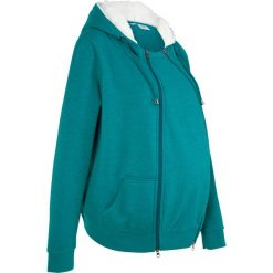 Bluza rozpinana ciążowa z wstawką niemowlęcą i miękką spodnią stroną bonprix kobaltowo-turkusowy melanż. Bluzy dla dziewczynek marki Pulp. Za 149.99 zł.