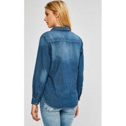 Pepe Jeans - Koszula. Szare koszule damskie Pepe Jeans, z bawełny, casualowe, z klasycznym kołnierzykiem, z długim rękawem. W wyprzedaży za 279.90 zł.