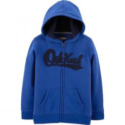 Bluza w kolorze niebieskim. Niebieskie bluzy dla chłopców OshKosh, z aplikacjami. Za 72.95 zł.