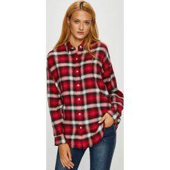 Levi's - Koszula. Brązowe koszule damskie Levi's, w kratkę, z tkaniny, casualowe, z klasycznym kołnierzykiem, z długim rękawem. Za 279.90 zł.
