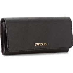 Duży Portfel Damski TWINSET - Portafoglio AA7PD3 Nero 00006. Czarne portfele damskie Twinset, ze skóry. W wyprzedaży za 359.00 zł.