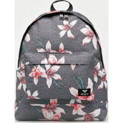 Roxy - Plecak. Szare plecaki damskie Roxy, w paski, z materiału. Za 169.90 zł.