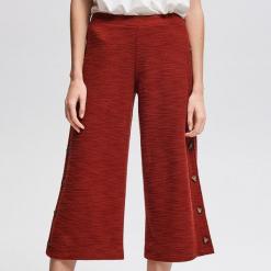 Spodnie z ozdobnym lampasem - Brązowy. Spodnie materiałowe damskie marki DOMYOS. W wyprzedaży za 59.99 zł.