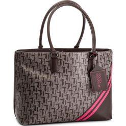 Torebka TRUSSARDI JEANS - Vaniglia 75B00548 B261. Brązowe torebki do ręki damskie TRUSSARDI JEANS, z jeansu. W wyprzedaży za 449.00 zł.