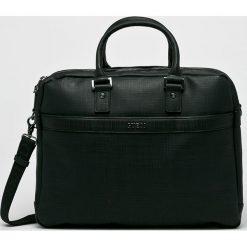 Guess Jeans - Torba The Modern. Czarne torby na laptopa męskie Guess Jeans, w paski, z jeansu. Za 679.90 zł.