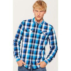 Koszula w kratę - Niebieski. Koszule męskie marki Giacomo Conti. W wyprzedaży za 49.99 zł.