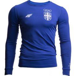 Longsleeve funkcyjny męski Serbia Pyeongchang 2018 TSMLF701 - kobalt. Niebieskie bluzki z długim rękawem męskie 4f, z napisami, z dzianiny, z dekoltem na plecach. W wyprzedaży za 99.99 zł.