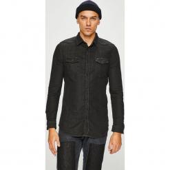 Guess Jeans - Koszula. Czarne koszule męskie Guess Jeans, z aplikacjami, z bawełny, z klasycznym kołnierzykiem, z długim rękawem. Za 399.90 zł.
