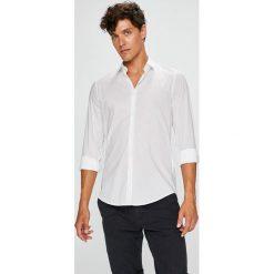 Trussardi Jeans - Koszula Colla. Szare koszule męskie TRUSSARDI JEANS, z bawełny, z klasycznym kołnierzykiem, z długim rękawem. W wyprzedaży za 279.90 zł.
