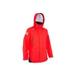 Kurtka żeglarska 500 męska. Czerwone kurtki męskie TRIBORD, z materiału. Za 399.99 zł.