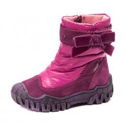 Skórzane botki w kolorze różowym. Botki dziewczęce marki bonprix. W wyprzedaży za 134.95 zł.