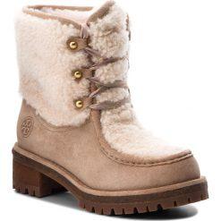 Trapery TORY BURCH - Meadow Boot 49197 Perfect Sand/Natural 256. Brązowe śniegowce i trapery damskie Tory Burch, z materiału. W wyprzedaży za 1,679.00 zł.