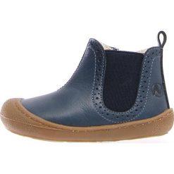"""Skórzane botki """"War"""" w kolorze niebieskim. Botki dziewczęce Zimowe obuwie dla dzieci. W wyprzedaży za 172.95 zł."""
