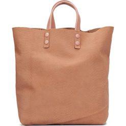 Skórzana torebka w kolorze brązowym - 45 x 46 x 11 cm. Torby na ramię damskie Marc O' Polo, w paski, ze skóry. W wyprzedaży za 434.95 zł.
