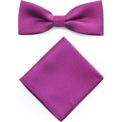 Mucha z poszetką MUR0001281. Różowe krawaty i muchy Giacomo Conti, z mikrofibry. Za 69.00 zł.