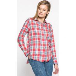 Levi's - Koszula. Brązowe koszule damskie Levi's, w kratkę, z bawełny, casualowe, z klasycznym kołnierzykiem, z długim rękawem. W wyprzedaży za 199.90 zł.