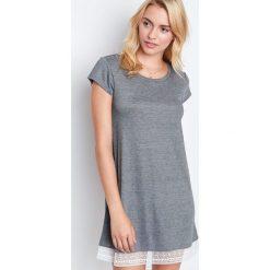 Etam - Koszulka piżamowa Warm Day. Szare koszule nocne damskie Etam, z poliesteru. Za 119.90 zł.