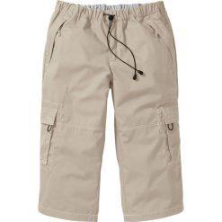 Spodnie 3/4 Loose Fit bonprix beżowy. Spodnie sportowe męskie marki bonprix. Za 89.99 zł.