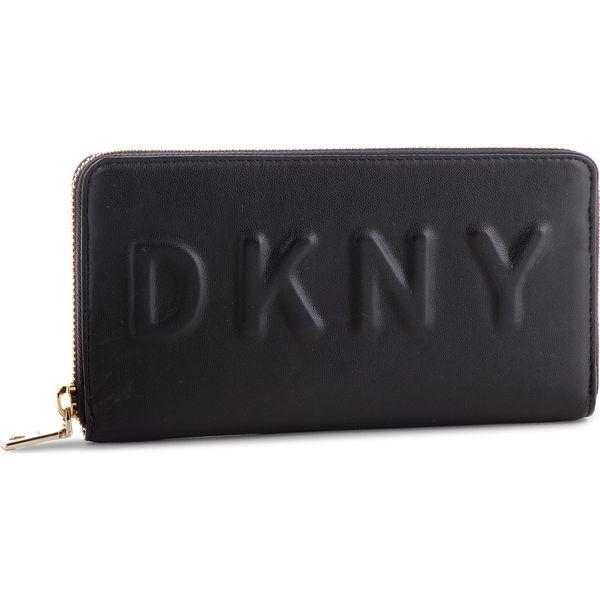35a03db2c30ac Duży Portfel Damski DKNY - Tilly Lg Zip Around R74QV103 Blk Gold BGD ...