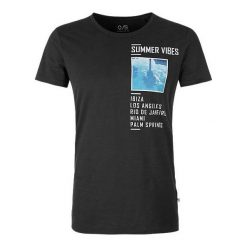 Q/S Designed By T-Shirt Męski L, Czarny. Czarne t-shirty męskie Q/S Designed By, z nadrukiem. W wyprzedaży za 59.00 zł.