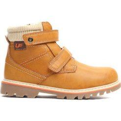 Camelowe Traperki Suburbanite. Brązowe buty zimowe chłopięce Born2be, z materiału. Za 69.99 zł.