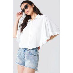 Trendyol Koszula Milla - White. Białe koszule damskie Trendyol, z falbankami. Za 80.95 zł.