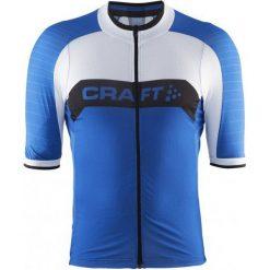 Craft Męska Koszulka Rowerowa Gran Fondo Niebieski M. Niebieskie koszulki sportowe męskie Craft, z materiału, z krótkim rękawem. W wyprzedaży za 259.00 zł.