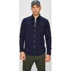 G-Star Raw - Koszula. Czarne koszule męskie G-Star Raw, z bawełny, z klasycznym kołnierzykiem, z długim rękawem. W wyprzedaży za 379.90 zł.