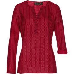 Tunika bonprix czerwono-czarny z nadrukiem. Czerwone tuniki damskie bonprix, z nadrukiem, z długim rękawem. Za 54.99 zł.