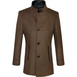 Płaszcz FLORIANO 14-36WK. Brązowe płaszcze męskie Giacomo Conti, na zimę, z kaszmiru, eleganckie. Za 899.00 zł.